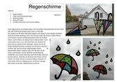 Regenschirme - Fensterdeko