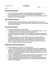 Merkblatt zum Thema Erörterungen