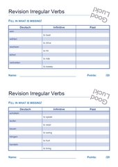 Revision Irregular Verbs