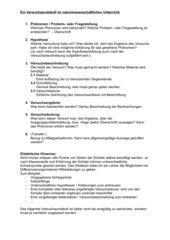 Versuchsprotokoll im nat. Unterricht