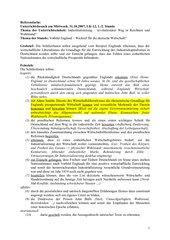 UR-Skizze: Einführungsstunde Industrialisierung Klasse 11