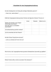 Checkliste Vorgangsbeschreibung - Partnerkorrektur
