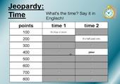 Jeopardy: time