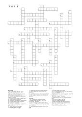 Rückblick 2013 - Kreuzworträtsel