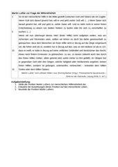 Textarbeit zu einem religiösen Freiheitsverständnis (Luther)