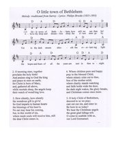 O little town of Bethlehem - englisches Weihnachtslied