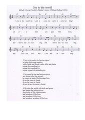 Joy to the world - englisches Weihnachtslied