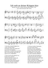Ich steh an deiner Krippen hier - vierstimmiger Satz von J. S. Bach