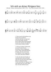 Ich steh an deiner Krippen hier - deutsches Weihnachtslied