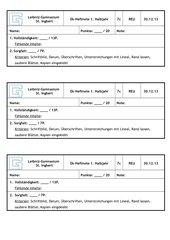 Bewertungsschema Heftnoten