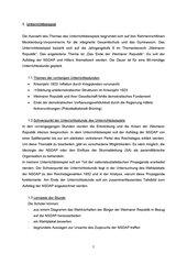 Unterrichtsentwurf: Die Person Hitlers und der Aufstieg der NSDAP