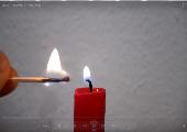 Video: Was brennt bei einer Kerze?