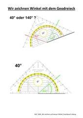 Winkel messen und zeichnen, Mittelschule Bayern, 7. Klasse
