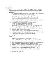 Klausur zum Fachabitur 2011