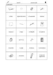 Memo-Spiel / Zuordnungsspiel: zu Schulmaterial