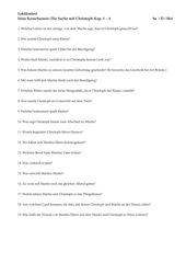 Lektüretest zu den ersten vier Kapiteln aus I. Korschunows