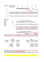 Die Funktionen SummenProdukt() u. ZählenWenns()