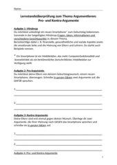 Lernstandsüberprüfung Argumentieren (Kl. 5- 7)