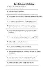 Fragebogen zum Film Der Absturz der Hindenburg