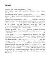 2 Arbeitsblätter zur Entstehung der Bibel