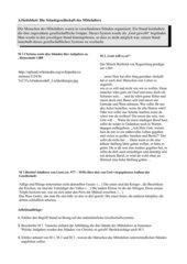 Quellenarbeit: Ständegesellschaft des Mittelalters