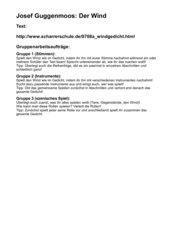 Deutsch Arbeitsmaterialien Josef Guggenmoos 4teachersde