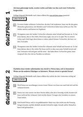 Quiz zu Ostern,  (4. Klasse, 5. Klasse, 6. Klasse)