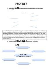 Unterrichtsskizze und AB zum Thema Prophetie