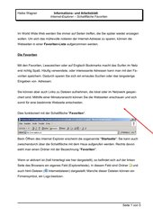 Internet Explorer - Arbeit mit Favoriten