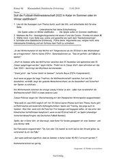klassenarbeit fr eine dialektische errterung zur fragestellung soll die fuball weltmeisterschaft 2022 in katar im sommer oder im winter stattfinden - Dialektische Erorterung Beispiel Klasse 9