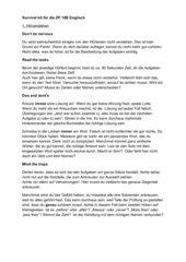 Survival kit für die ZP 10B Englisch NRW