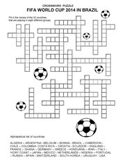 Crossword Puzzle FIFA World Cup 2014