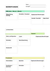 Beurteilungs- / Beobachtungsbogen
