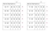 Plus - Ankreuz - Karten (bis 6)