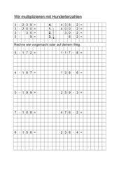 halbschriftliche Multiplikation mit HZE mal E