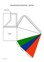 Quadratische Pyramide - farbiger Schnitt