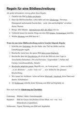 Bildbeschreibung - Regeln und Bewertungskriterien