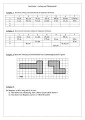 Rechtecke. Umfang und Flächeninhalt
