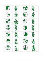 Mathespiel Domino (Bruchdarstellung, Kürzen,Erweitern)