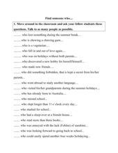 Kennenlernspiel Englisch Find someone who....
