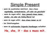 Übersicht Simple Present/Present Progressive
