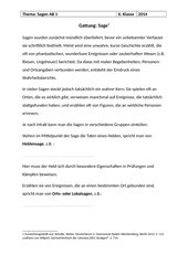 Deutsch Arbeitsmaterialien Sage 4teachersde