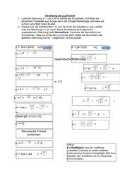 Herleitung der p,q-Formel mithilfe eines Puzzles