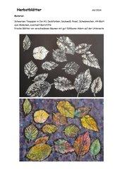 Herbstblätter  drucken