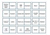Danke sagen Domino (verschiedene Sprachen)