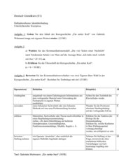 Klausur zu Kurzprosa/Kommunikationsanalyse