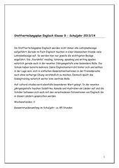 Stoffverteilungsplan Englisch Klasse 9, Hauptschule Bayern
