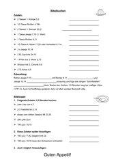 Bibelsuppe und Bibelkuchen