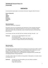 Grundlage Wortarten für 10.Klasse Werkrealschule