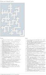 Irregular verbs - Kreuzworträtsel